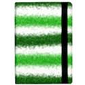 Metallic Green Glitter Stripes iPad Air 2 Flip View2