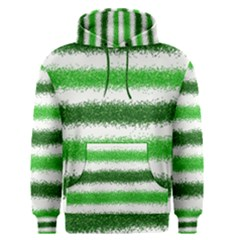 Metallic Green Glitter Stripes Men s Pullover Hoodie