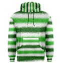 Metallic Green Glitter Stripes Men s Pullover Hoodie View1