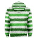 Metallic Green Glitter Stripes Men s Pullover Hoodie View2