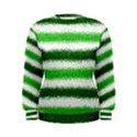 Metallic Green Glitter Stripes Women s Sweatshirt View1