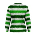 Metallic Green Glitter Stripes Women s Sweatshirt View2
