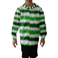 Metallic Green Glitter Stripes Hooded Wind Breaker (Kids)