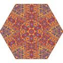 Oriental Watercolor Ornaments Kaleidoscope Mosaic Mini Folding Umbrellas View1