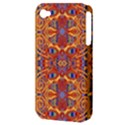 Oriental Watercolor Ornaments Kaleidoscope Mosaic Apple iPhone 4/4S Hardshell Case (PC+Silicone) View3