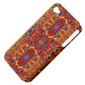 Oriental Watercolor Ornaments Kaleidoscope Mosaic Apple iPhone 4/4S Hardshell Case (PC+Silicone) View4