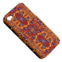 Oriental Watercolor Ornaments Kaleidoscope Mosaic Apple iPhone 4/4S Hardshell Case (PC+Silicone) View5