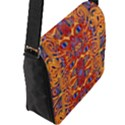 Oriental Watercolor Ornaments Kaleidoscope Mosaic Flap Messenger Bag (L)  View2
