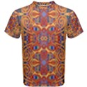 Oriental Watercolor Ornaments Kaleidoscope Mosaic Men s Cotton Tee View1