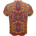 Oriental Watercolor Ornaments Kaleidoscope Mosaic Men s Cotton Tee View2
