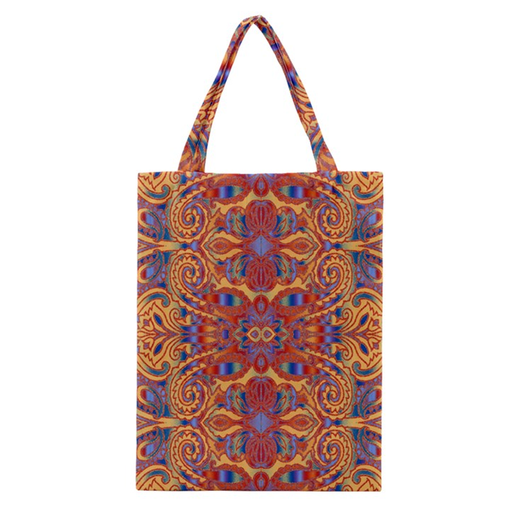 Oriental Watercolor Ornaments Kaleidoscope Mosaic Classic Tote Bag
