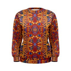 Oriental Watercolor Ornaments Kaleidoscope Mosaic Women s Sweatshirt