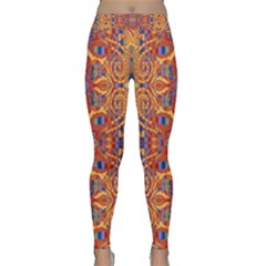 Oriental Watercolor Ornaments Kaleidoscope Mosaic Yoga Leggings