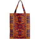 Oriental Watercolor Ornaments Kaleidoscope Mosaic Zipper Classic Tote Bag View1