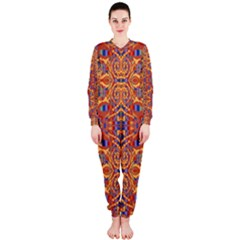 Oriental Watercolor Ornaments Kaleidoscope Mosaic OnePiece Jumpsuit (Ladies)