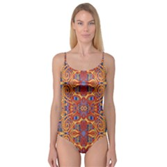 Oriental Watercolor Ornaments Kaleidoscope Mosaic Camisole Leotard