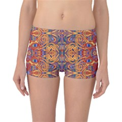 Oriental Watercolor Ornaments Kaleidoscope Mosaic Boyleg Bikini Bottoms