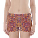 Oriental Watercolor Ornaments Kaleidoscope Mosaic Boyleg Bikini Wrap Bottoms View1