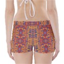 Oriental Watercolor Ornaments Kaleidoscope Mosaic Boyleg Bikini Wrap Bottoms View2