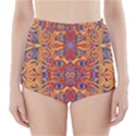 Oriental Watercolor Ornaments Kaleidoscope Mosaic High-Waisted Bikini Bottoms View1