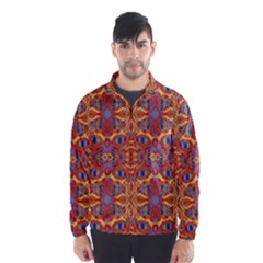 Oriental Watercolor Ornaments Kaleidoscope Mosaic Wind Breaker (Men)