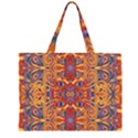 Oriental Watercolor Ornaments Kaleidoscope Mosaic Large Tote Bag View1