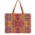 Oriental Watercolor Ornaments Kaleidoscope Mosaic Large Tote Bag View2