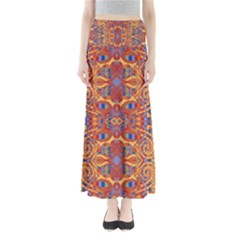 Oriental Watercolor Ornaments Kaleidoscope Mosaic Maxi Skirts