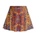 Oriental Watercolor Ornaments Kaleidoscope Mosaic Mini Flare Skirt View1
