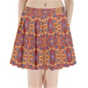 Oriental Watercolor Ornaments Kaleidoscope Mosaic Pleated Mini Skirt View1