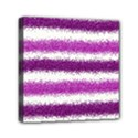 Metallic Pink Glitter Stripes Mini Canvas 6  x 6  View1