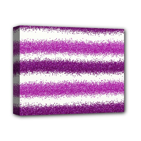 Metallic Pink Glitter Stripes Deluxe Canvas 14  x 11
