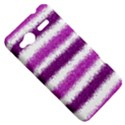 Metallic Pink Glitter Stripes HTC Radar Hardshell Case  View5