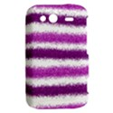 Metallic Pink Glitter Stripes HTC Wildfire S A510e Hardshell Case View2