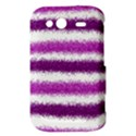 Metallic Pink Glitter Stripes HTC Wildfire S A510e Hardshell Case View3