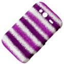 Metallic Pink Glitter Stripes HTC Wildfire S A510e Hardshell Case View4
