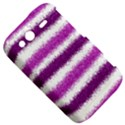 Metallic Pink Glitter Stripes HTC Wildfire S A510e Hardshell Case View5
