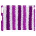 Metallic Pink Glitter Stripes Apple iPad 2 Hardshell Case (Compatible with Smart Cover) View1