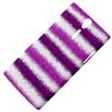 Metallic Pink Glitter Stripes Sony Xperia S View4