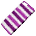 Metallic Pink Glitter Stripes Apple iPhone 5 Classic Hardshell Case View4