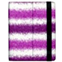 Metallic Pink Glitter Stripes Apple iPad 2 Flip Case View2
