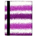 Metallic Pink Glitter Stripes Apple iPad 2 Flip Case View3