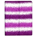 Metallic Pink Glitter Stripes Apple iPad Mini Flip Case View1
