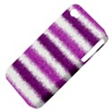 Metallic Pink Glitter Stripes Apple iPhone 4/4S Hardshell Case (PC+Silicone) View4