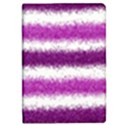 Metallic Pink Glitter Stripes iPad Mini 2 Flip Cases View1