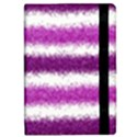 Metallic Pink Glitter Stripes iPad Mini 2 Flip Cases View2