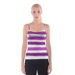 Metallic Pink Glitter Stripes Spaghetti Strap Top