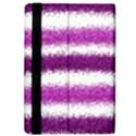 Metallic Pink Glitter Stripes iPad Air 2 Flip View4