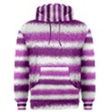 Metallic Pink Glitter Stripes Men s Pullover Hoodie View1