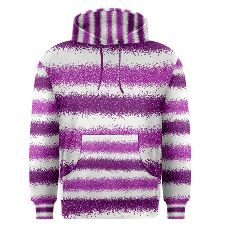 Metallic Pink Glitter Stripes Men s Pullover Hoodie